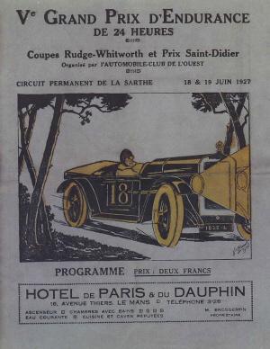 Poster Le Mans 1927