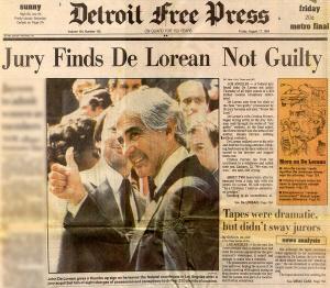 Biografía John DeLorean. No culpable