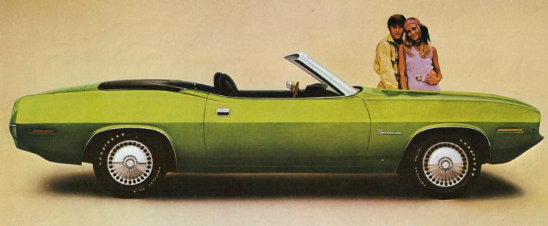 Foto: Descapotable. Recorte de publicidad de 1970