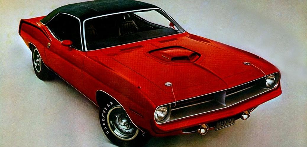 Plymouth Barracuda Serie 3 Hemi. Foto: Descapotable. Recorte de catálogo de 1970