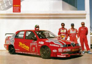 Foto: 155 TS. Automovil. Equipo Alfa España 1995