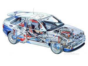 Entrañas de la versión de rallye. Ford