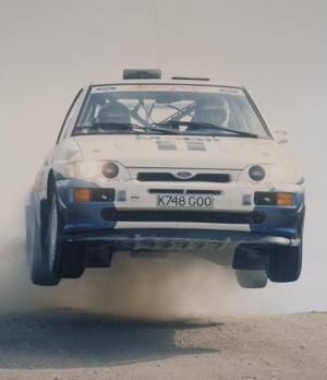 Foto: Francois Delecour. Equipo Oficial. Rally de Portugal de 1993. Ford Motor Company
