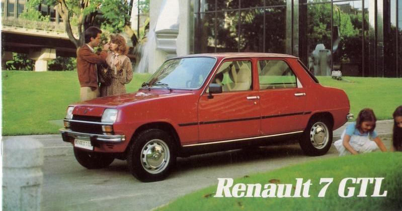 Foto: Portada Catálogo R7 GTL 1980. Renault