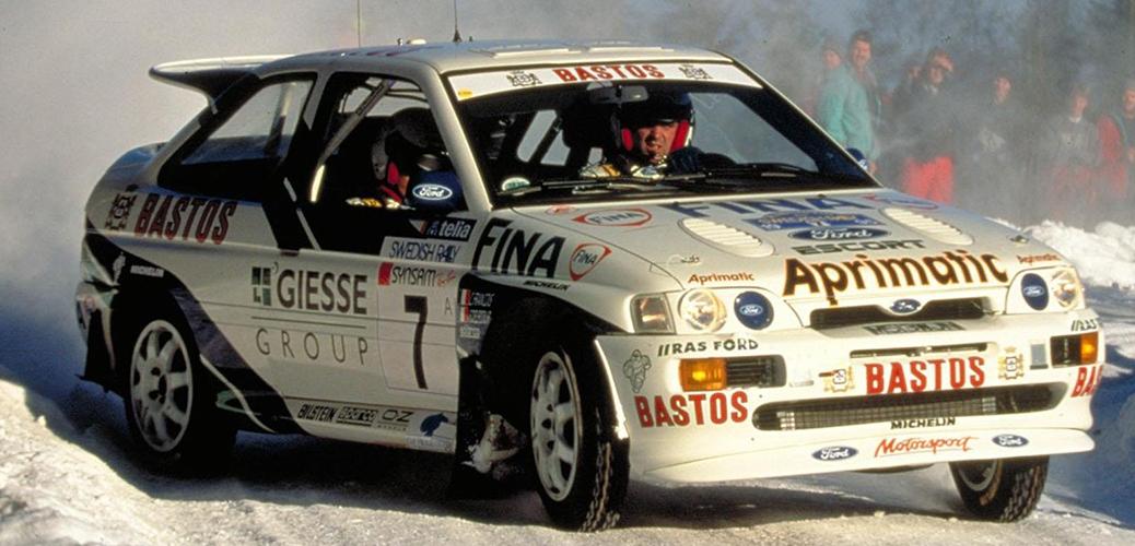 Foto: Francois Delecour, Rally de Suecia de 1995. Equipo No Oficial RAS Ford. Ford Motor Company