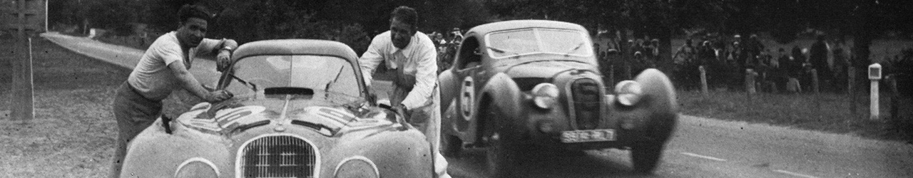 Alfa Romeo 8C 2900B Touring #19 Raymond Sommer y Clemente Biondetti. #5 Talbot T150SS Coupe Jean Prenant / Andre Morel