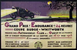 Poster Le Mans 1923
