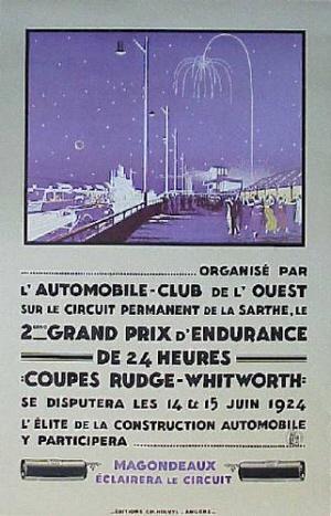 Poster Le Mans 1924