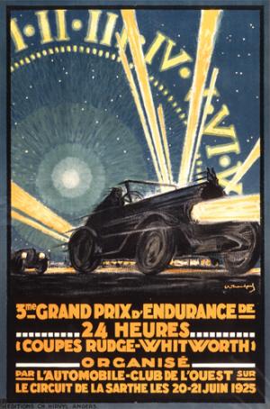 Poster Le Mans 1925
