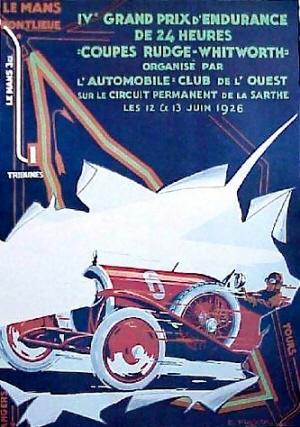 Poster Le Mans 1926