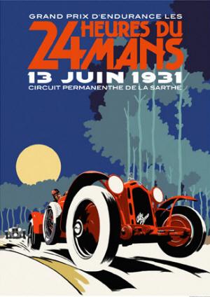 Poster Le Mans 1931