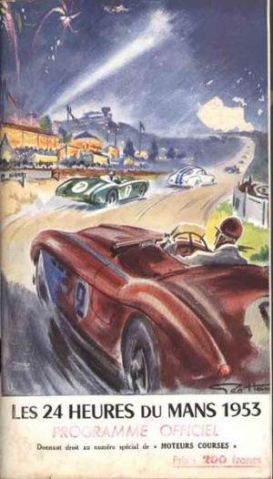 Poster Le Mans 1953