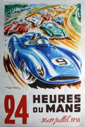 Poster Le Mans 1956