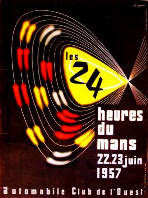 Poster Le Mans 1957