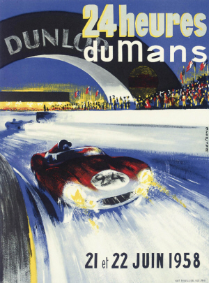 Poster Le Mans 1958