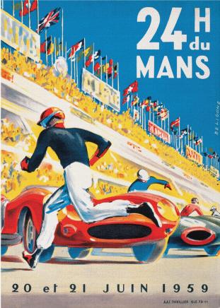 Poster Le Mans 1959