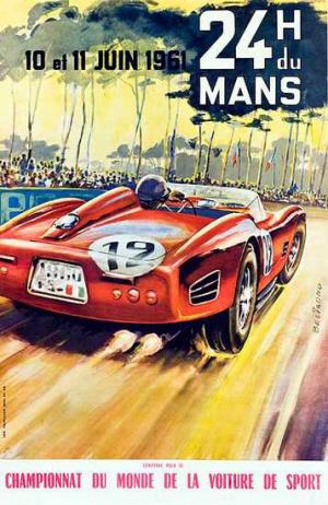 Poster Le Mans 1961