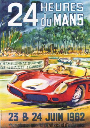 Poster Le Mans 1962