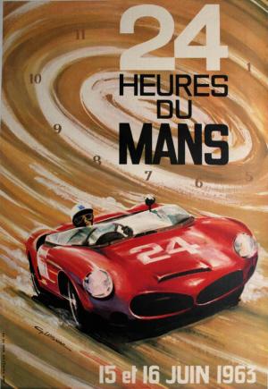 Poster Le Mans 1963