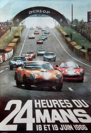 Poster Le Mans 1966