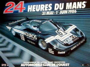 Poster Le Mans 1986