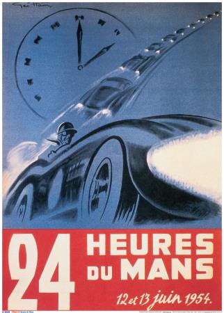 Poster le Mans 1954