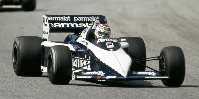 Nelson Piquet con el Brabham BT52B en Zandvoort. Foto: BMW Group