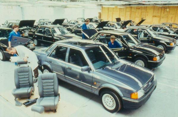 Ford Orion Mk2 1600E en montaje en Tickford