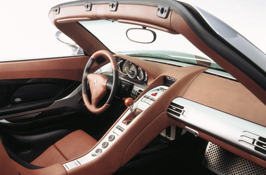 Porsche Carrera GT. Interior. Foto: Porsche