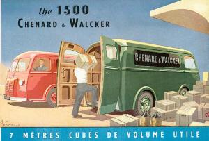 Chenard & Walcker 1500. Publicidad de la época