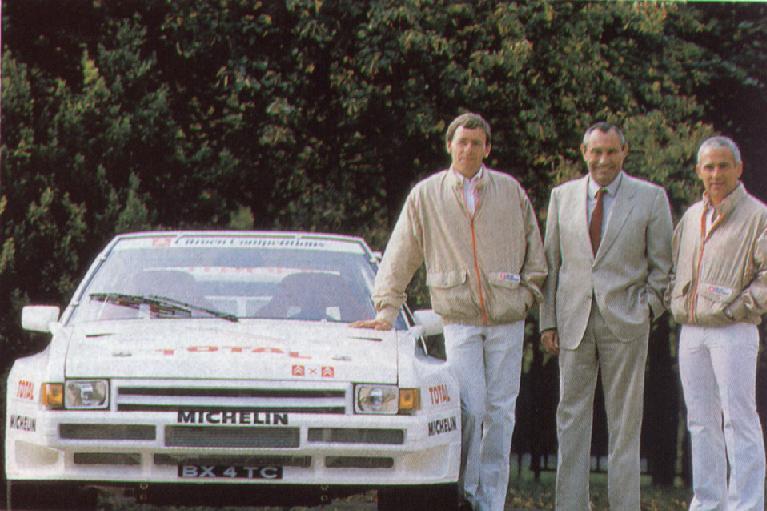 Philippe Wambergue, Guy Verrier y Jean Claude Andruet