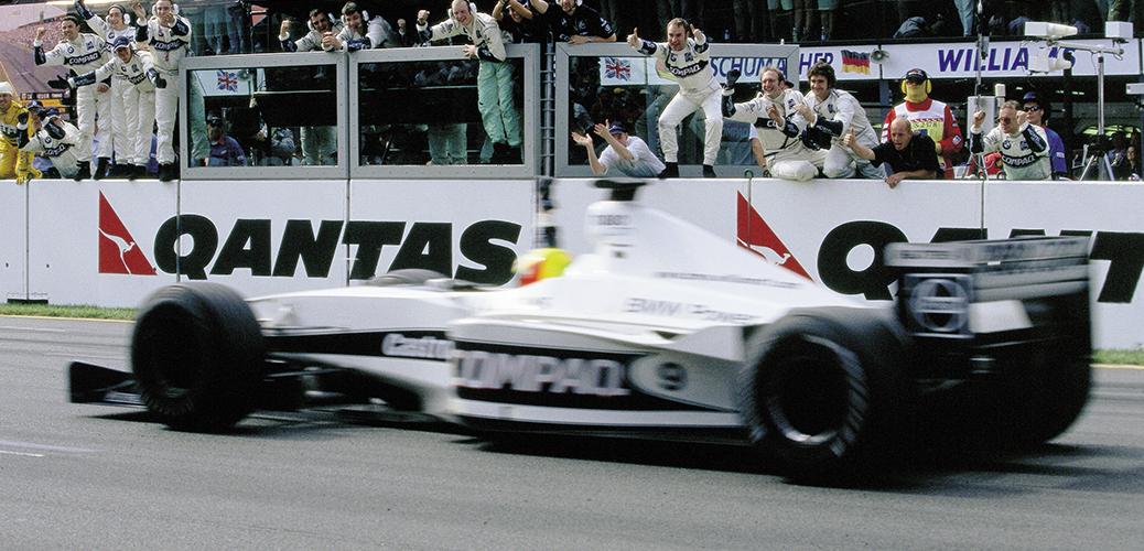 Ralf Schumacher entrando en tercer lugar en el Gran Premio de Australia, Foto: BMW AG