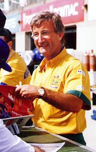 El fundador de Jordan Grand Prix, Eddie Jordan en 1996