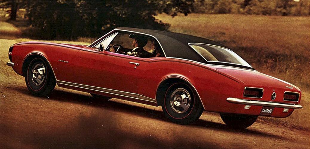Chevrolet Camaro SS350 + RS Package + Vinyl Roof, Foto: Catálogo Chevrolet Camaro 1966