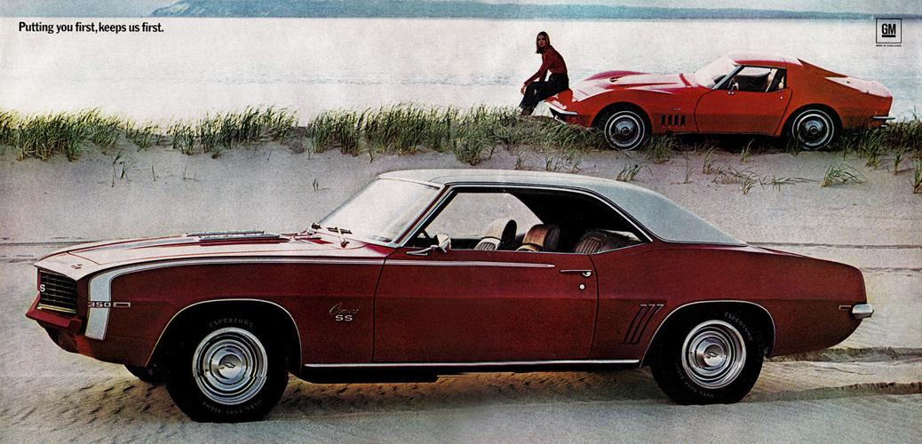 Chevrolet Camaro 1969, Foto: Catálogo Chevrolet Camaro 1968
