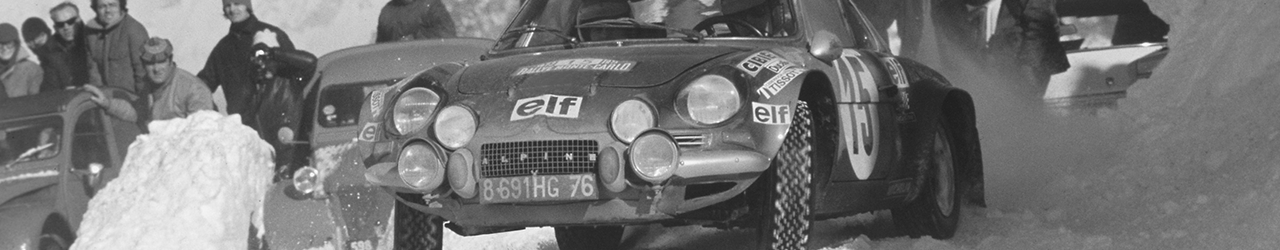 42ème Rallye Automobile de Monte-Carlo. Alpine A110, Foto: Renault Communication