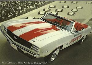 Chevrolet Camaro SS393 Indianápilis Pace Car 1969. Foto: Publicidad Chevrolet