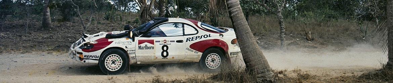 WRC 1992, Carlos Sáinz con su Toyota en el Rally Safari, Foto: Repsol