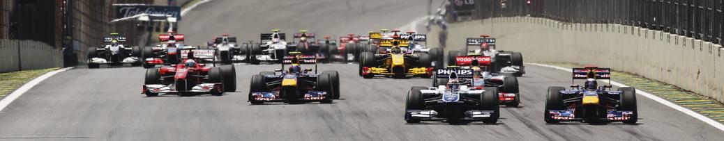 Salida del Gran Premio de brasil de 2012, Foto: Red Bull