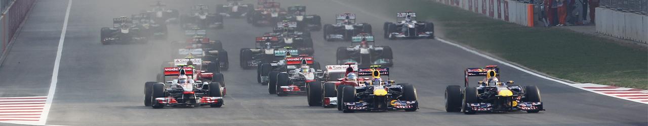 Salida Gran Premio de la India 2011. Foto: Red Bull