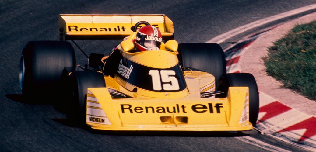 Renault RS01, Jabouille, Test Le Castellet, Mayo de 1977 Foto: Renault/Jeff LeHalle