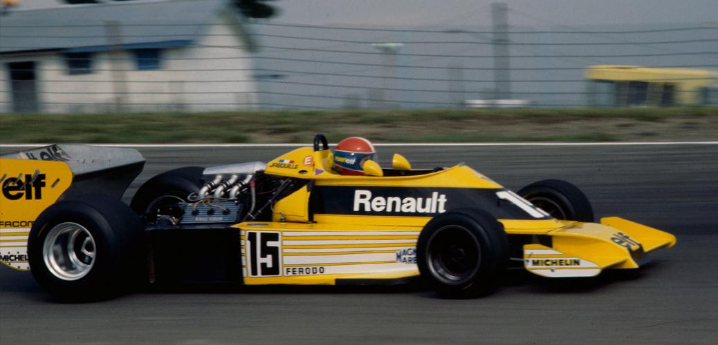 Renault RS01, Jabouille, Silverstone, Julio de 1977 Foto: Renault