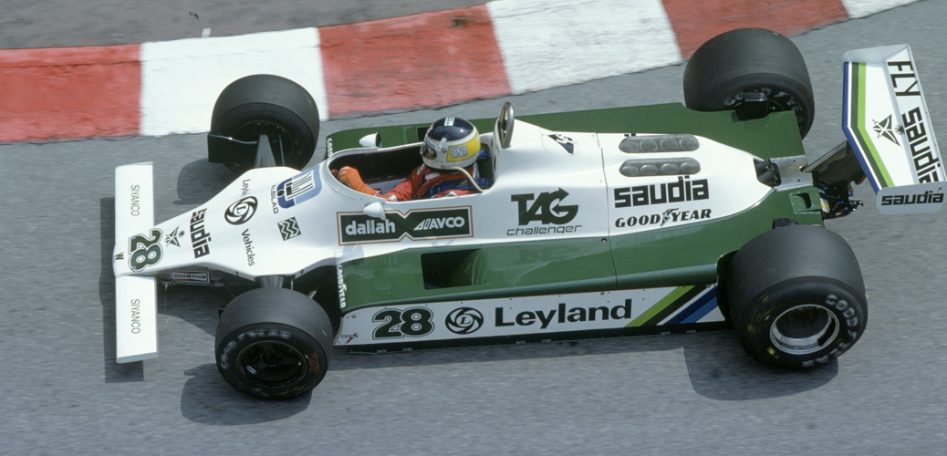 Williams-Ford FW07B, Mónaco 1980. Foto: LAT Photographic/Williams F1