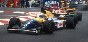 Williams FW14B, Mónaco 1992, Foto: LAT Photographic/Williams F1