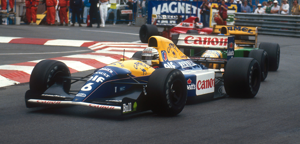 Williams FW14B, Mónaco 1992, Foto: LAT Photographic/Williams F1