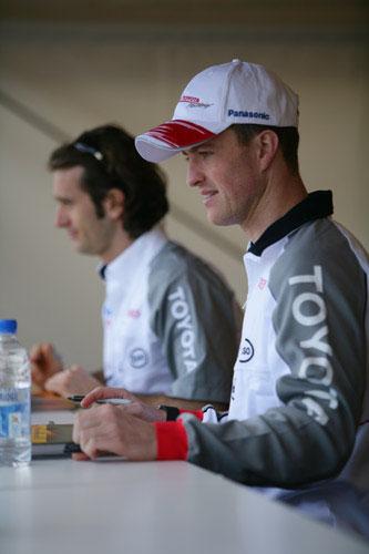 Foto: Ralf Schumacher. Toyota Motorsport.