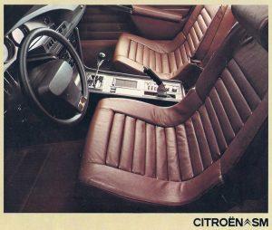 Citroën SM. Interior. Catálogo Francés de 1972.
