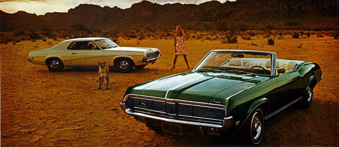 Foto: Mercury Cougar 69. Catálogo Mercury Gama 1969.