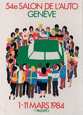 Póster Salón del Automóvil de Ginebra 1984
