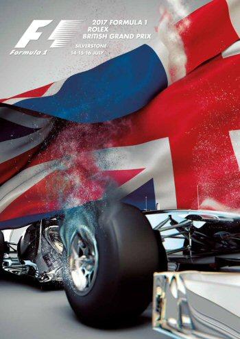 Póster Gran Premio de Gran Bretaña 2017